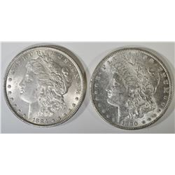 1884 & 1890 CH BU MORGAN DOLLARS