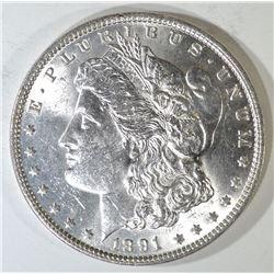 1891 MORGAN DOLLAR, CH BU BETTER DATE
