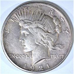 1921 PEACE DOLLAR, AU