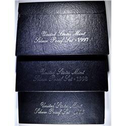 1996, 97 & 98 U.S. SILVER PROOF SETS