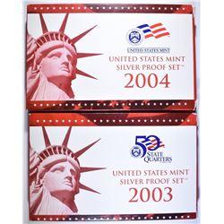 2003 & 2004 U.S. SILVER PROOF SETS