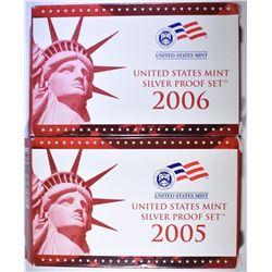 2005 & 2006 U.S. SILVER PROOF SETS