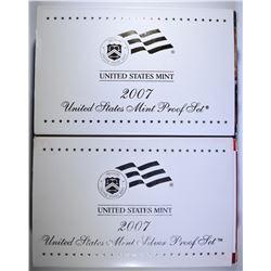 2-2007 U.S. SILVER PROOF SETS