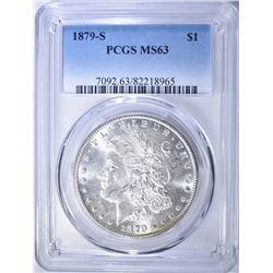 1879-S MORGAN DOLLAR, PCGS MS-63