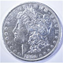 1900-S MORGAN DOLLAR  AU/BU  CLEANED