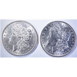 1880 & 1883 MORGAN DOLLARS   BU