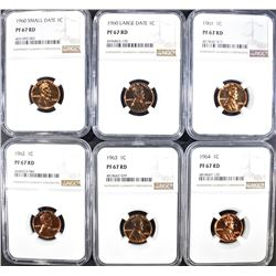 1960-64 PROOF LINCOLN CENTS NGC PF-67