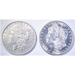 1880-S GEM BU & 1881-O CH BU MORGAN DOLLARS