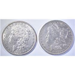 1882 CH AU & 1883-O CH AU MORGAN DOLLARS