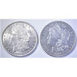 1884-O & 85-O BU MORGAN DOLLARS