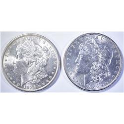 1885-O & 86 CH BU MORGAN DOLLARS