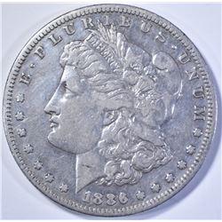 1886-S MORGAN DOLLAR, XF