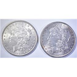 2-BU 1889 MORGAN DOLLARS