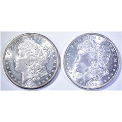 1890 GEM BU & 90-S GEM BU MORGAN DOLLARS