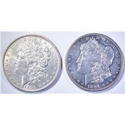 1888 BU & 91 BU PL MORGAN DOLLARS