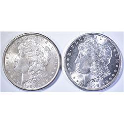 1899-O GEM BU & 1900 BU MORGAN DOLLARS