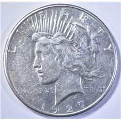 1927-S PEACE DOLLAR, CH AU