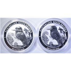 2-2019 AUSTRALIAN 1oz SILVER KOOKABURRA  $1 COINS