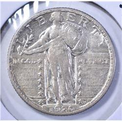 1920-S STANDING LIBERTY QUARTER, XF/AU