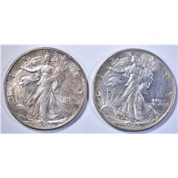 2-1945-S WALKING LIBERTY HALF DOLLARS, CH BU