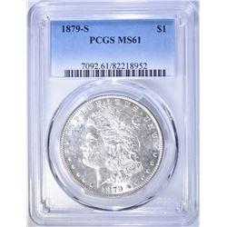1879-S MORGAN DOLLAR, PCGS MS-61