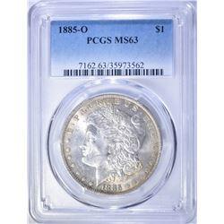 1885-O MORGAN DOLLAR, PCGS MS-63