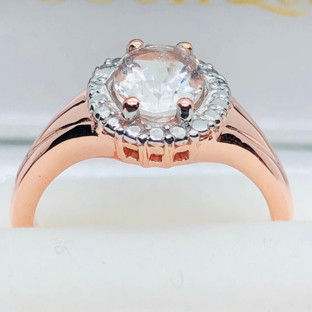 Rgss Morganite Ring, Suggested Retail Value $200 (Estimated Selling Price  from $30 to $60)