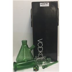 VODKA GLASS BONG - GREEN