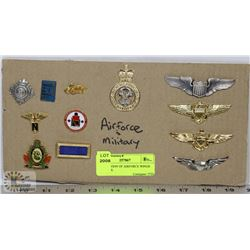 COLLECTION OF AIRFORCE WINGS AND PINS.