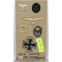 WWII GERMAN PINS AND BADGES.