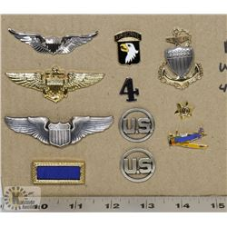 COLLECTION OF MILITARY AND AIRFORCE WINGS & PINS.