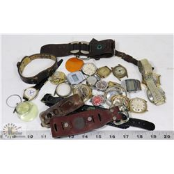 ESTATE LOT OF VINTAGE PROJECT WRIST WATCHES.