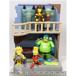 SIMPSONS EXCLUSIVE PLAYSET WITH FIGURES.