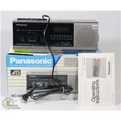 PANASONIC FM/AM RADIO CASSETTE RECORDER WITH
