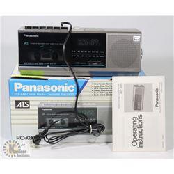 PANASONIC FM/AM RADIO CASSETTE RECORDER WITH