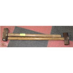 PAIR OF SLEDGE HAMMERS - ONE IS 8LBS.