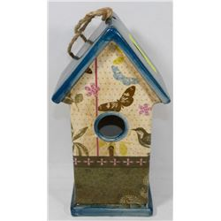 DECORATIVE CERAMIC BIRD HOUSE