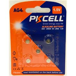 PACK OF 5 AG4 WATCH BATTERIES