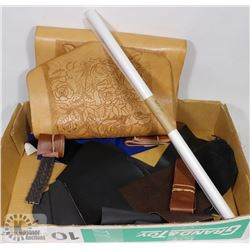 FLAT OF ASSORTED LEATHER