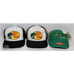 3 NEW BASS PRO SHOP HATS