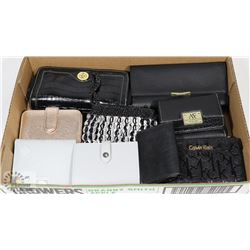 LARGE FLAT OF WOMENS WALLETS & HAND PURSES INCLUDE