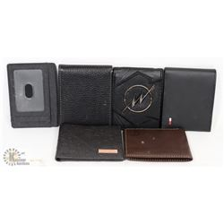 COLLECTION OF 5 MEN'S WALLETS INCLUDES  T.HILFIGER