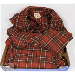 2 NEW 3XL BASS PRO SHOP RED HEAD PLAID LONG SLEEVE