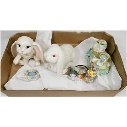 BOX OF EASTER FIGURINES