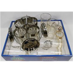 LOT OF ASSORTED GLASSES INCLUDING ANNIVERSARY,
