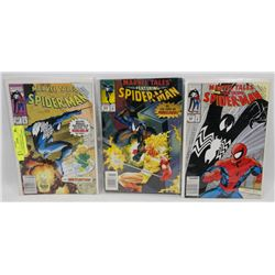 3 PACK OF MARVEL TALES FEATURING SPIDERMAN COMICS.