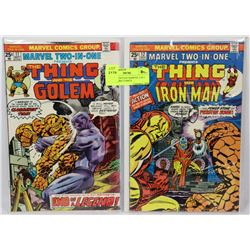 LOT OF 2 VINTAGE MARVEL 2 IN 1 COLLECTORS COMICS