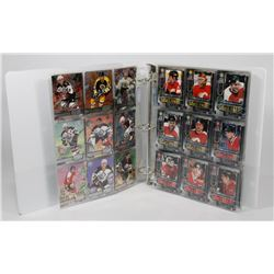 BINDER OF SKYBOX METAL UNIVERSE 1996-1997 HOCKEY