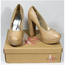 BONNIBELL BEIGE PU SIZE 5.5 LADIES SHOES, STYLE