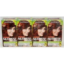 4 BOXES OF INTENSE MEDIUM RED GARNIER HAIR COLOUR